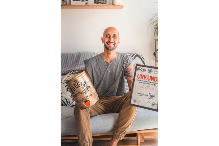 The proud winner of the fourth hobby brewing competition: Fernando Luis Coppi // © Brauerei Gebr. Maisel KG